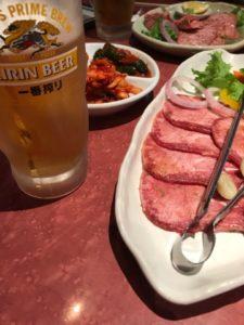 焼肉,牛タン,ビール