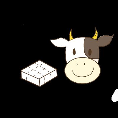 牛,イラスト