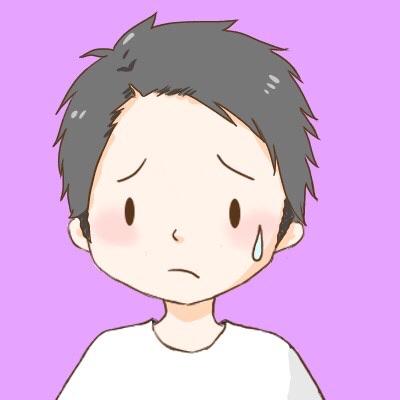 アイコン:短髪男の子汗