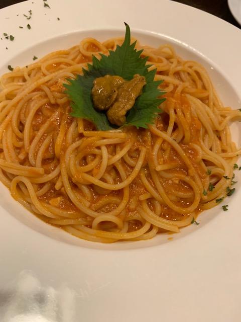 伊勢志摩で食べた生うにのパスタ