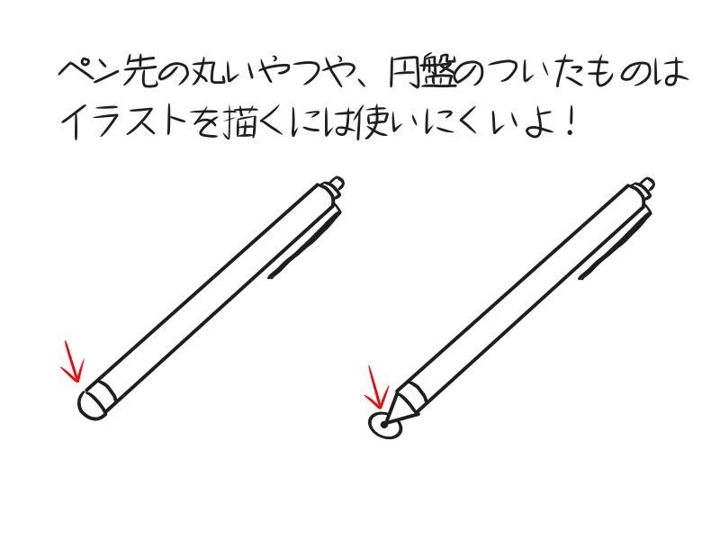 イラストを描くには使いにくいタブレットのペン
