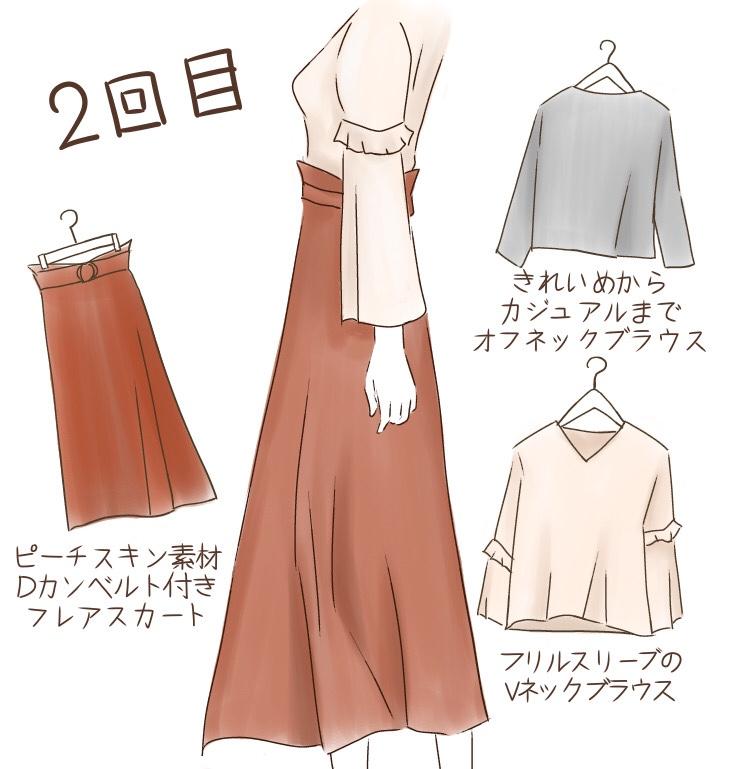 エアークローゼット2回目のファッションレンタル