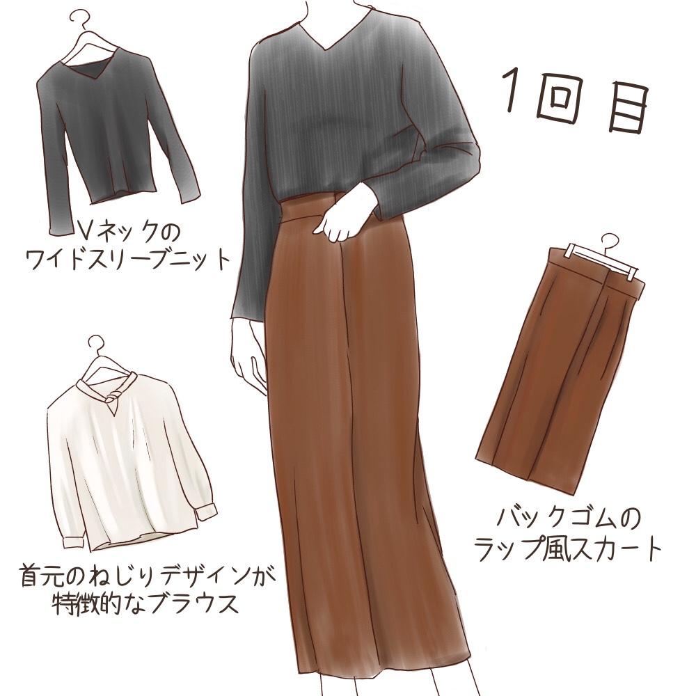 エアークローゼット1回目のファッションレンタル商品