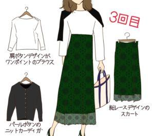 airCloset(エアクロ)3回目のファッションレンタルアイテム一覧